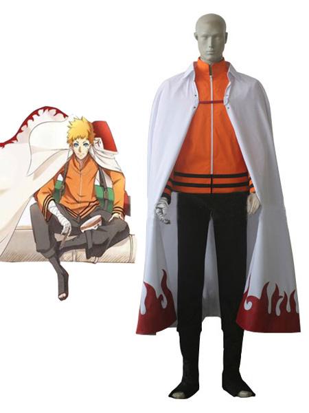 Milanoo Halloween Traje para cosplay de Uzumaki Naruto de Naruto