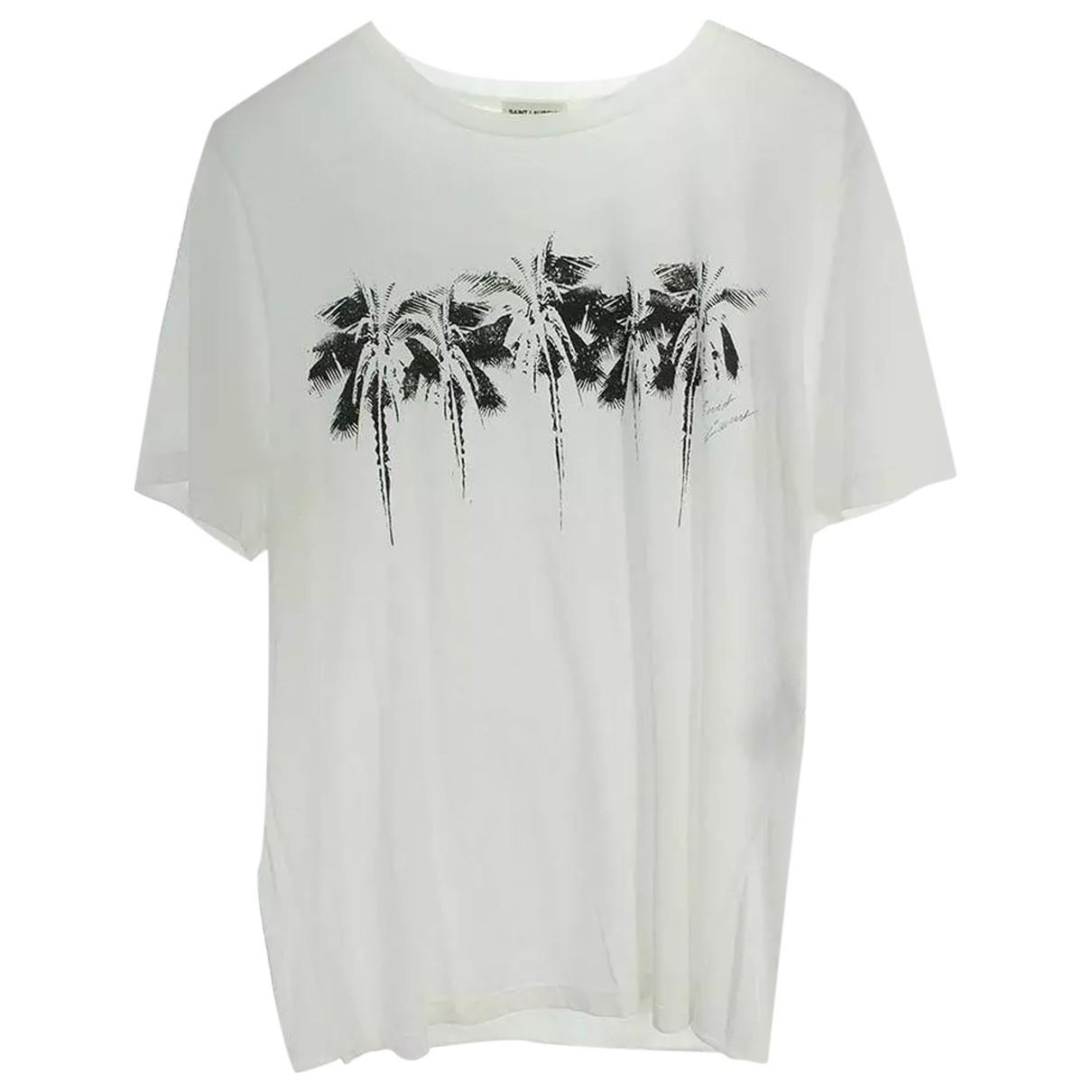 Saint Laurent \N White Cotton T-shirts for Men XS International