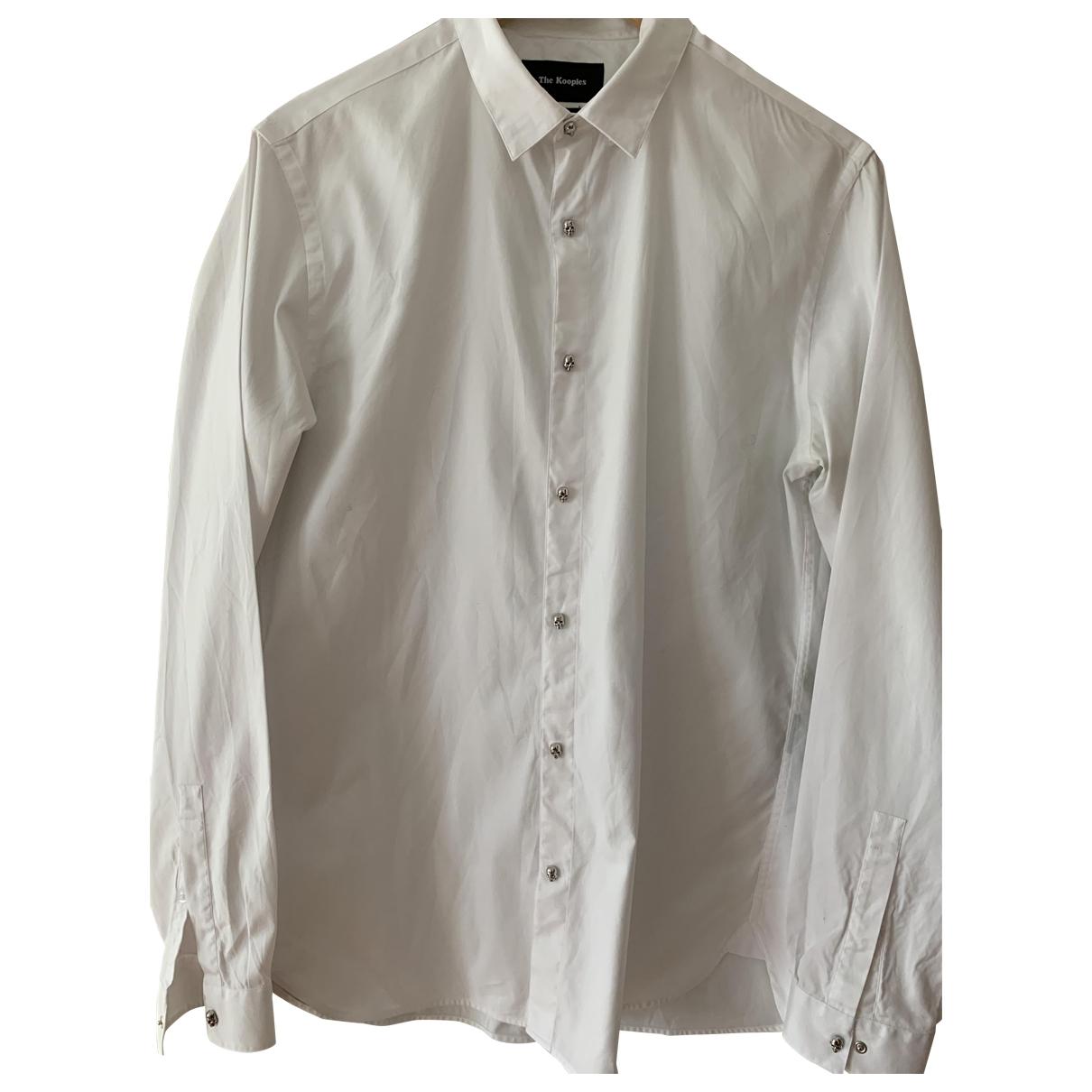 The Kooples \N White Cotton Shirts for Men M International