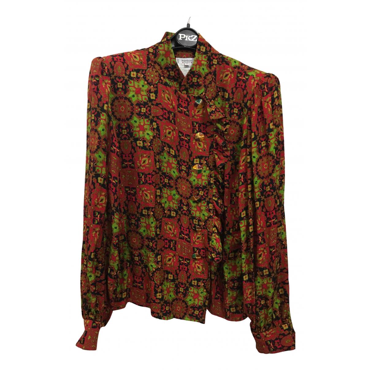 Yves Saint Laurent N Multicolour Silk  top for Women 38 FR