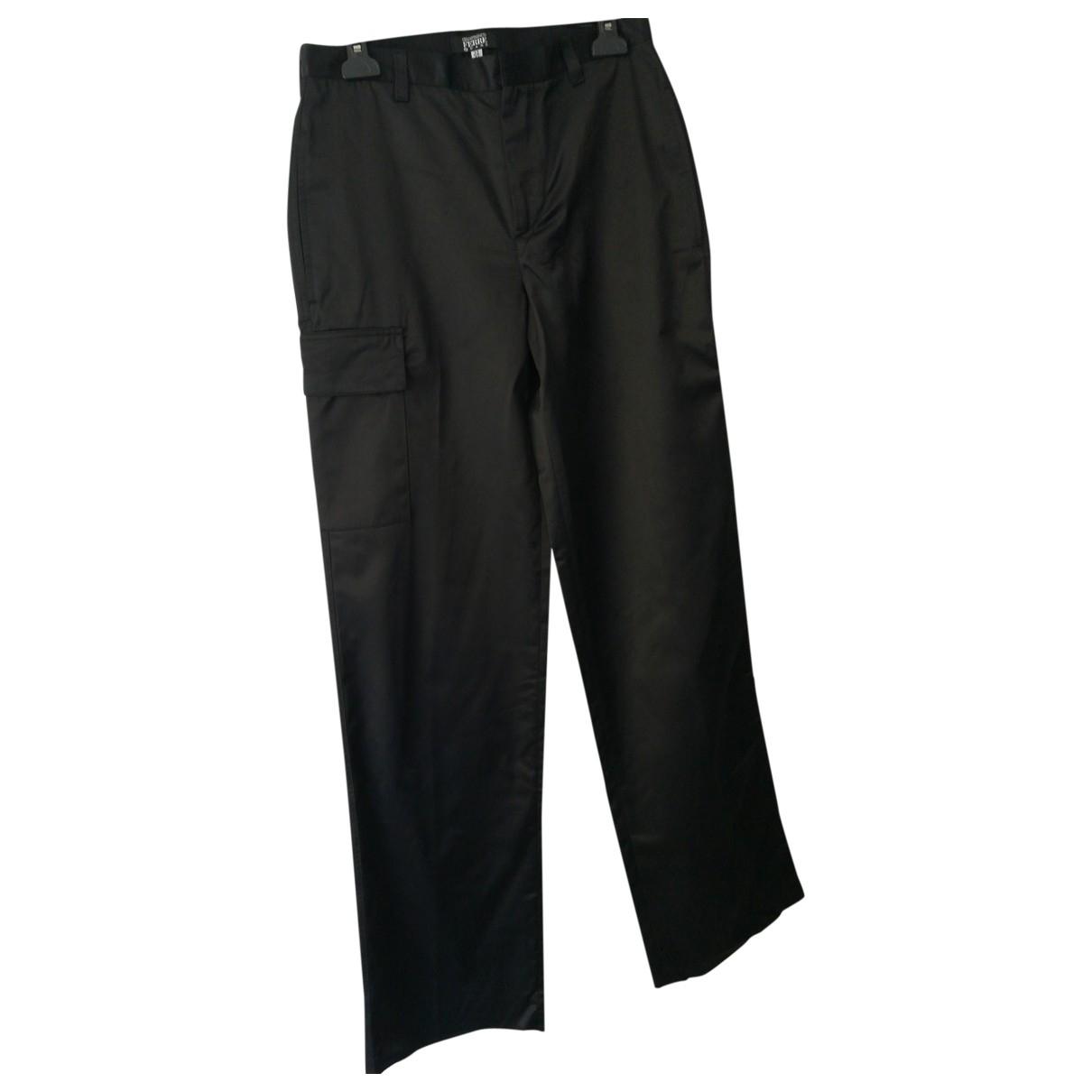 Gianfranco Ferré \N Black Cotton Trousers for Men 46 IT