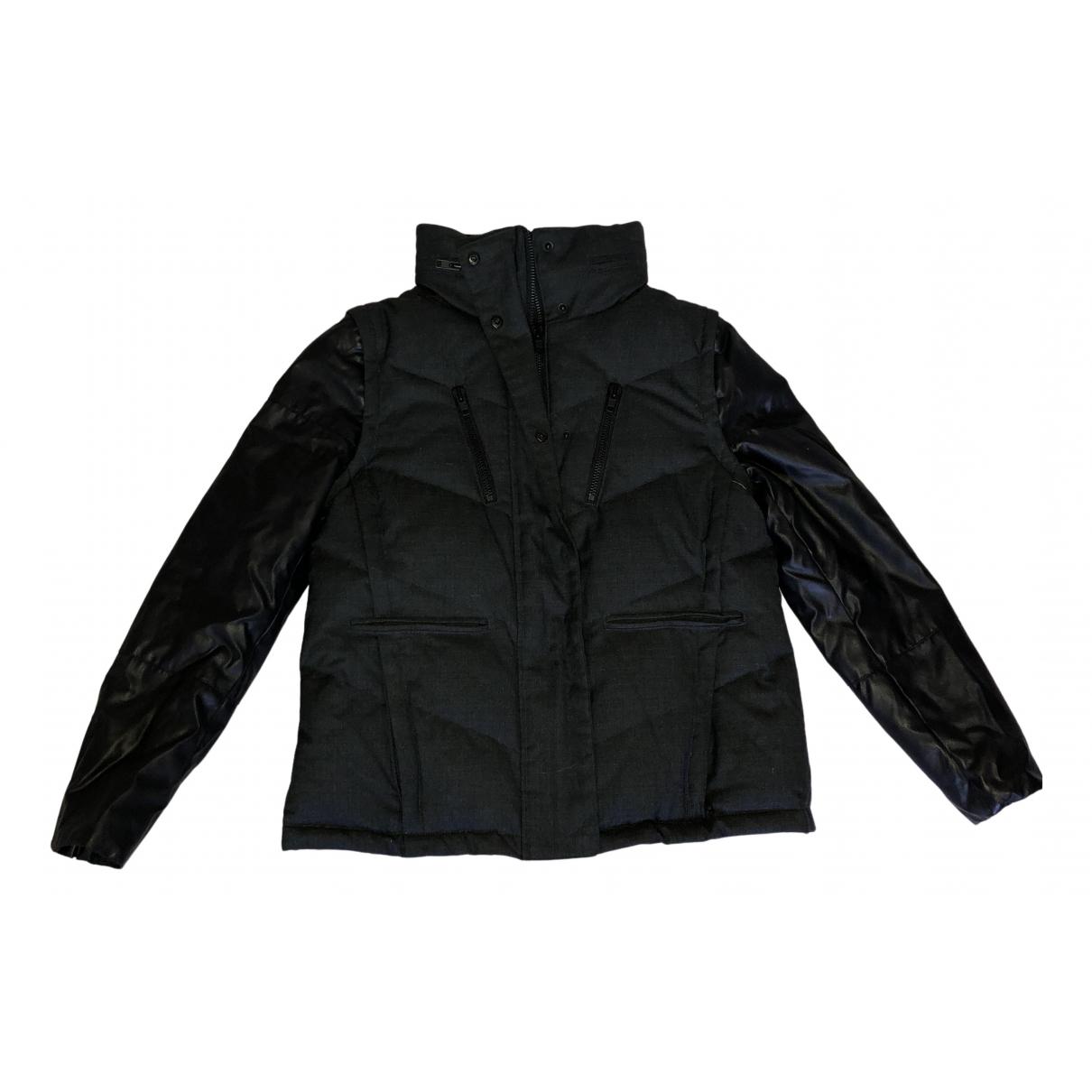 The Kooples N Black Cotton Leather jacket for Women 38 FR