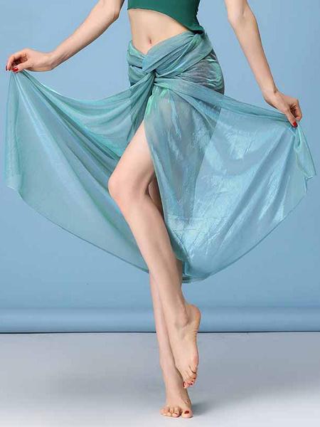 Milanoo Belly Dance Costume Skirt Women Organza Split Belly Dancing Bottoms