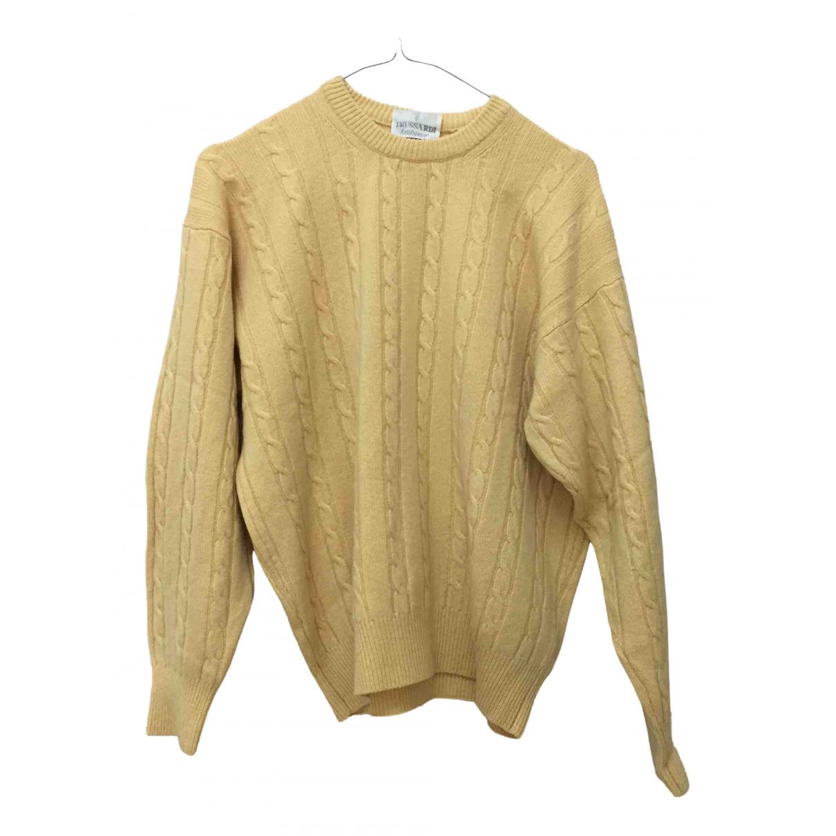 Trussardi - Pull   pour femme en cachemire - jaune