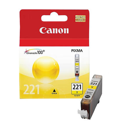 Canon CLI-221Y Original Yellow Ink Cartridge