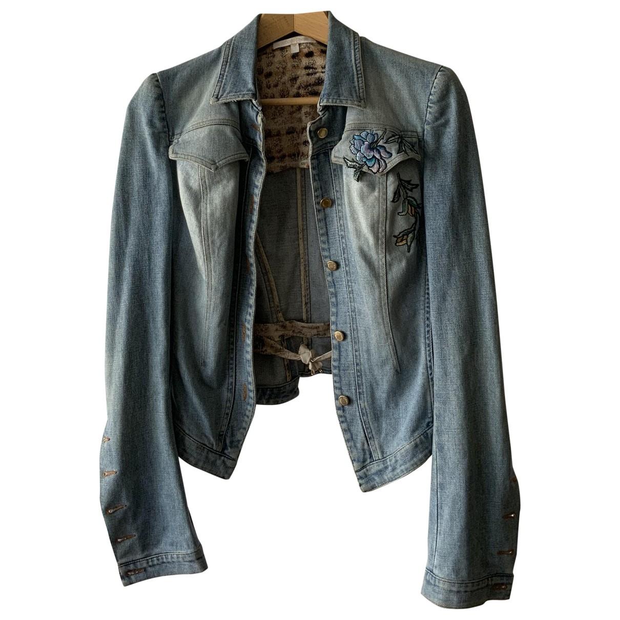 Roberto Cavalli \N Jacke in  Blau Denim - Jeans