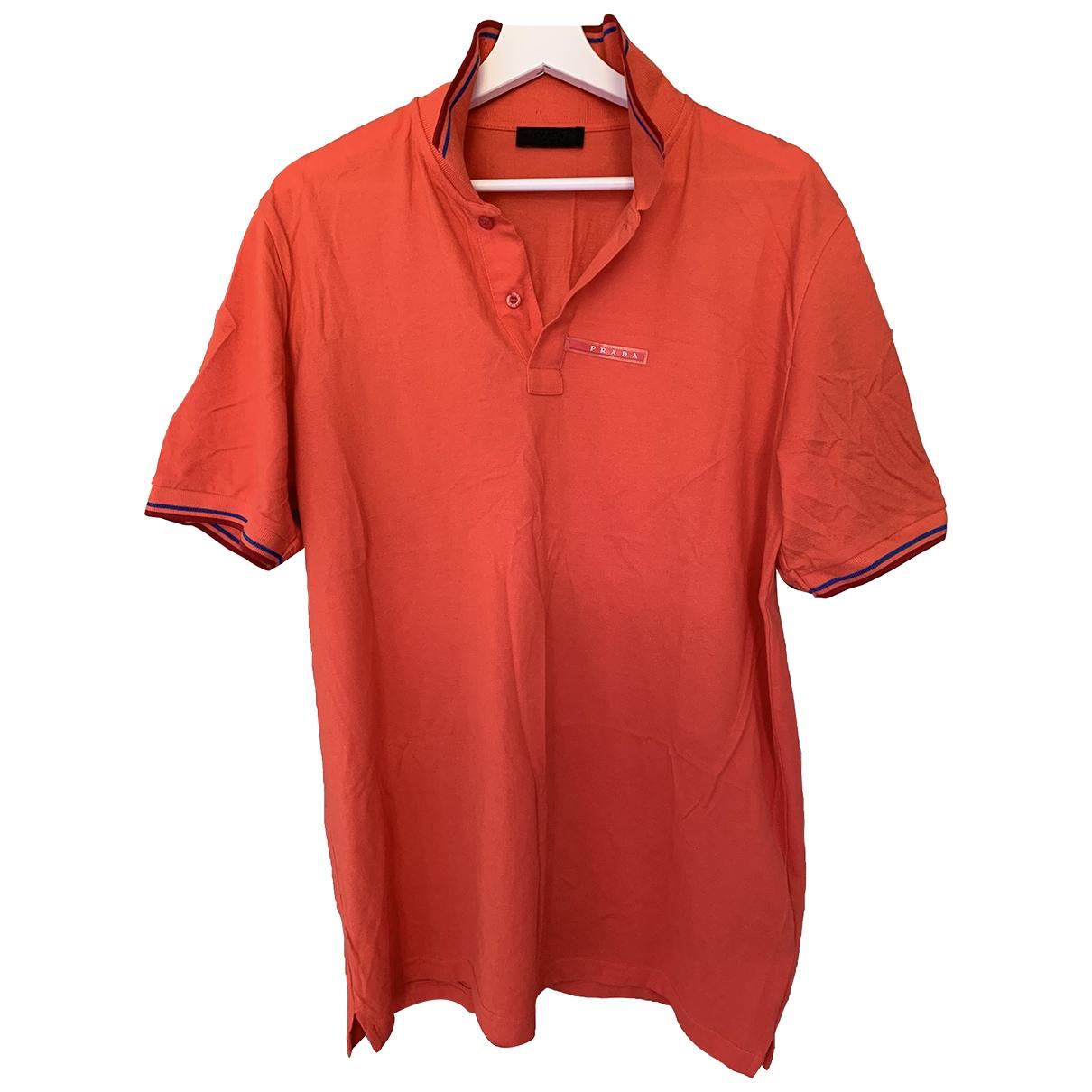 Prada \N Poloshirts in  Orange Baumwolle
