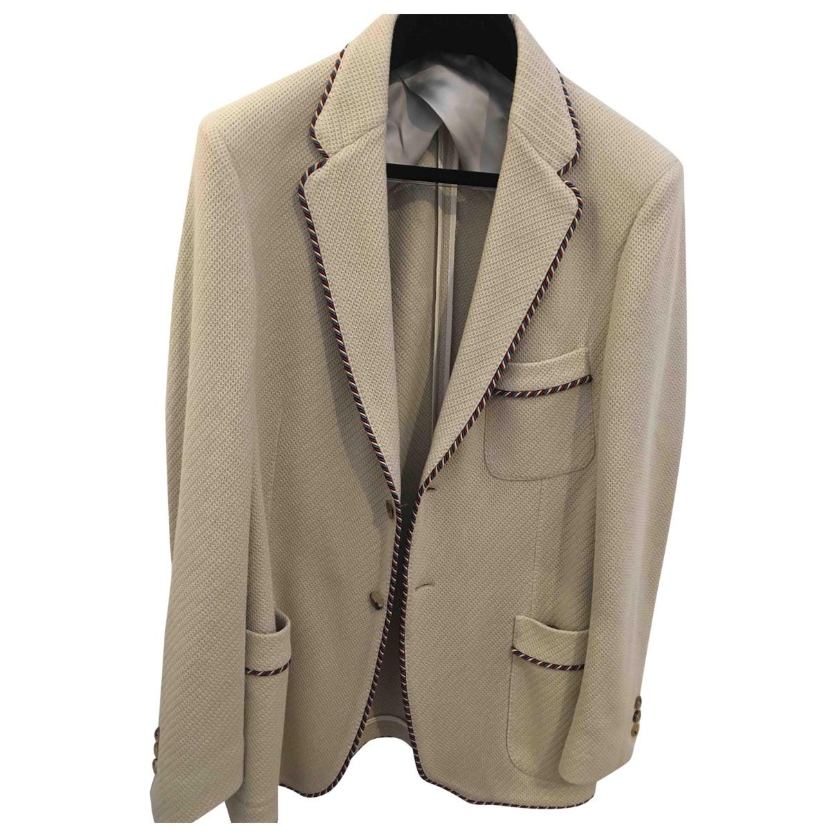Gucci \N Beige Cotton jacket  for Men 52 IT