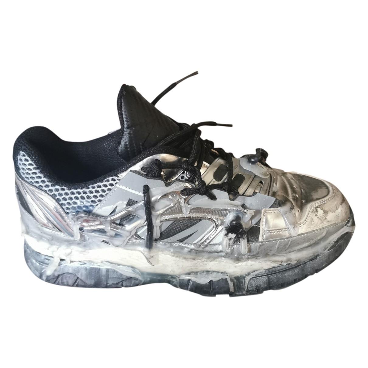 Maison Martin Margiela Fusion  Sneakers in  Silber Leder