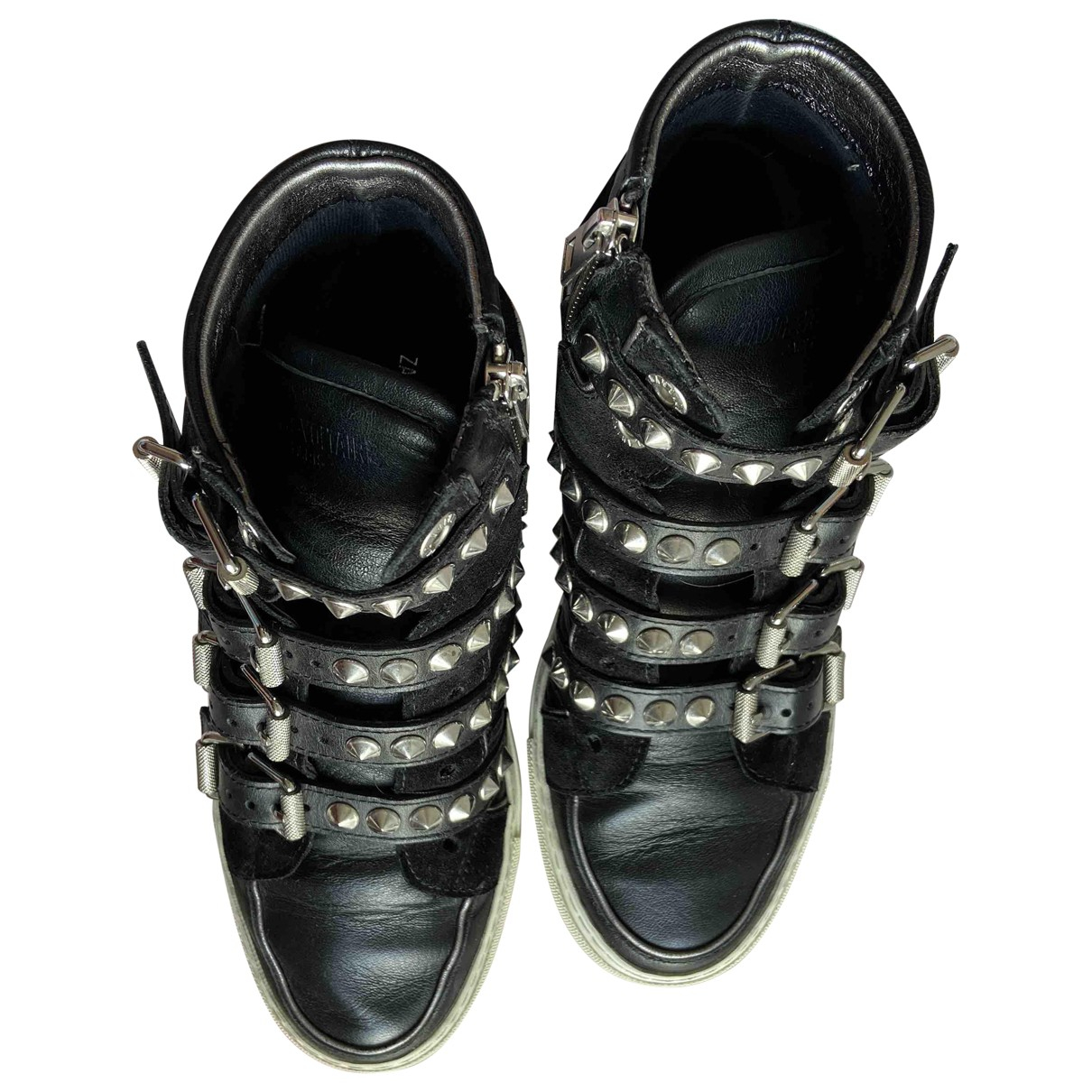 Zadig & Voltaire \N Black Leather Trainers for Women 36 EU