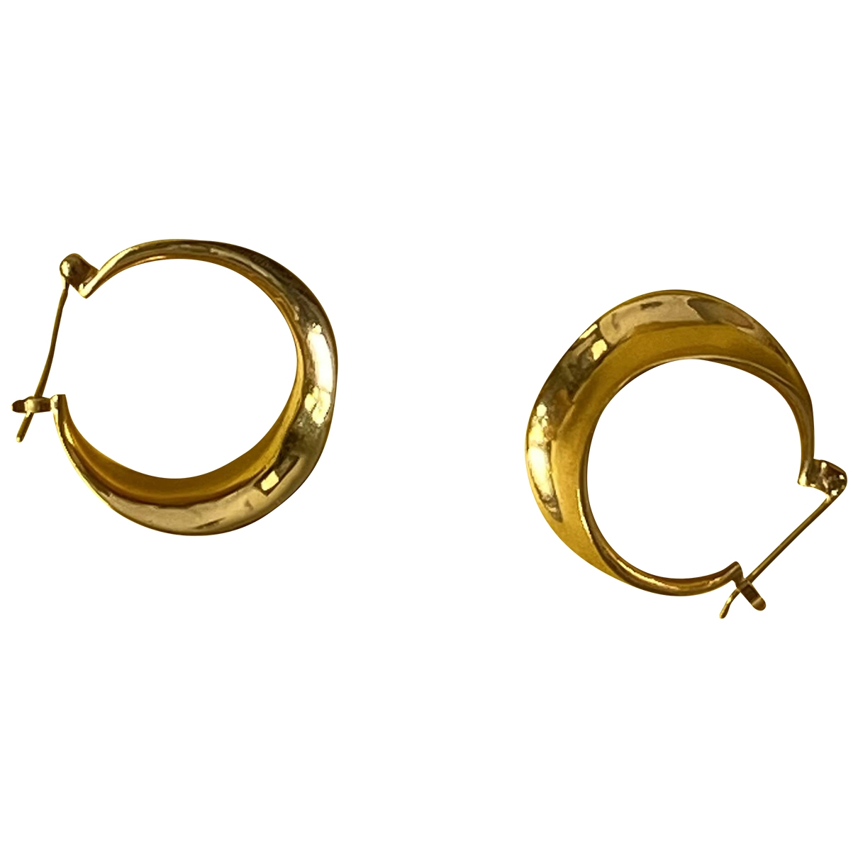 - Boucles doreilles Creoles pour femme en or jaune - dore