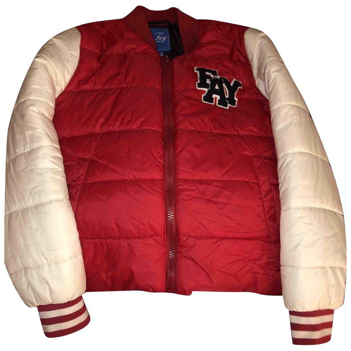 Fay - Blousons.Manteaux   pour enfant - rouge