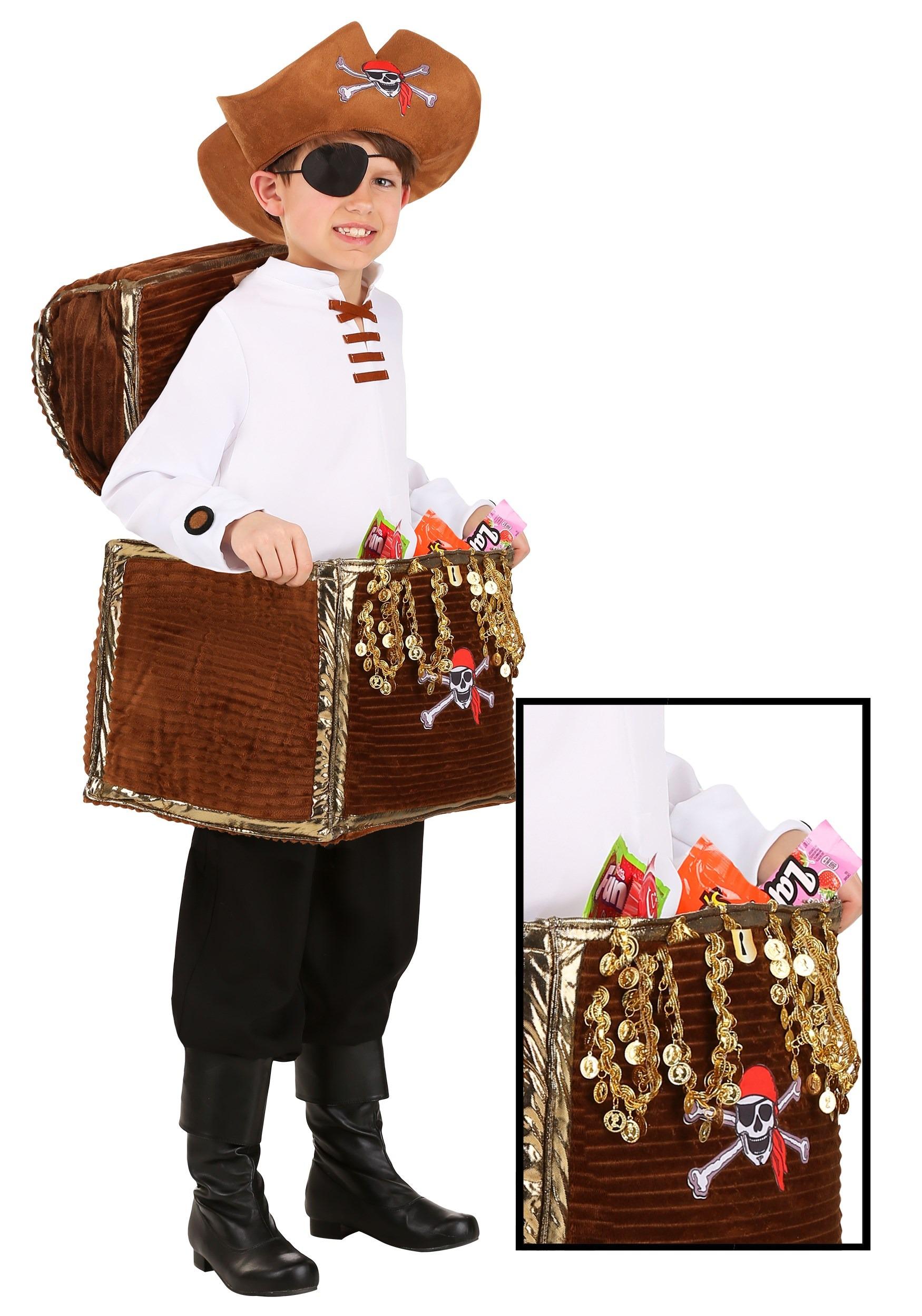 Pirate Chest Candy Catcher Child's Costume