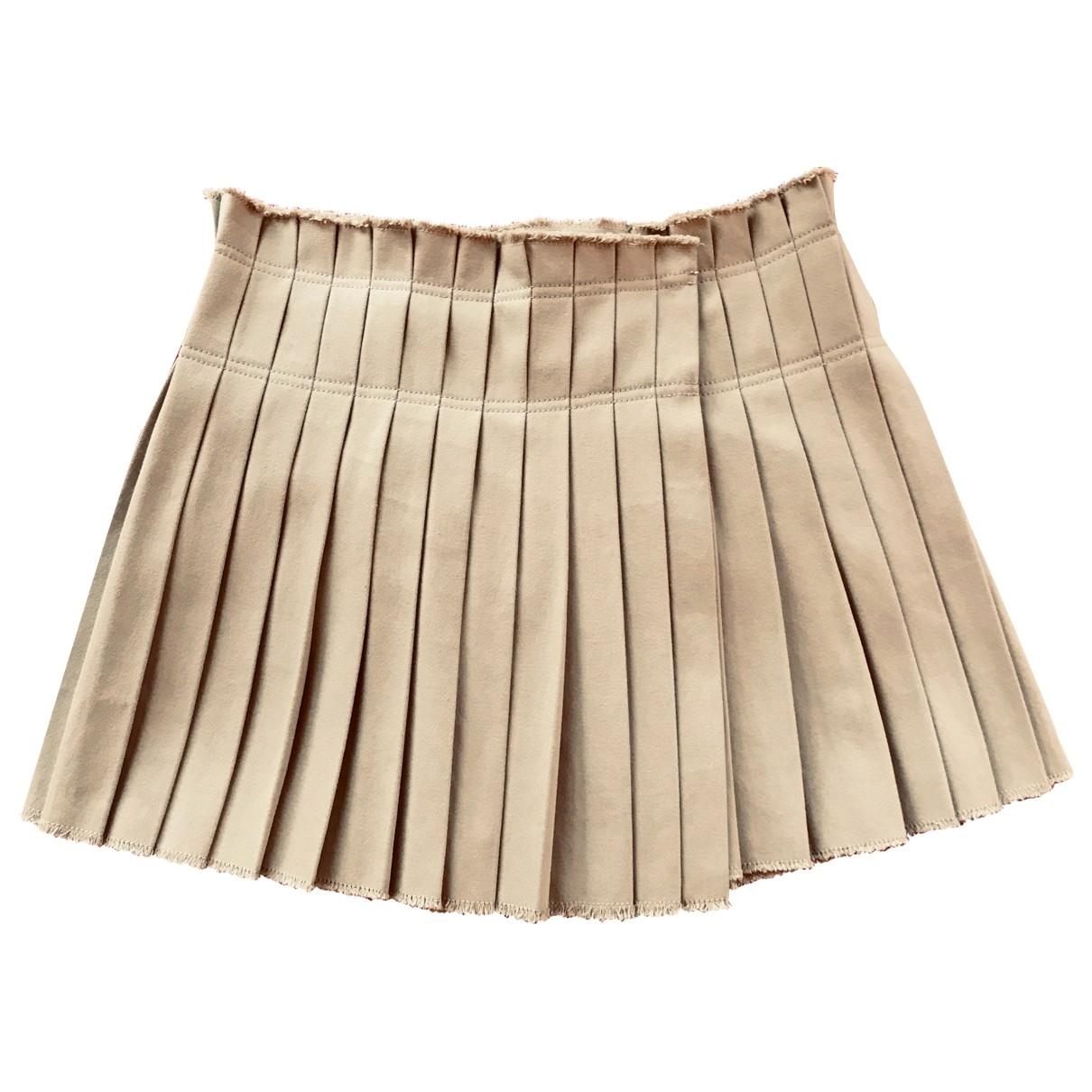 Isabel Marant \N Khaki Cotton - elasthane skirt for Women 38 FR