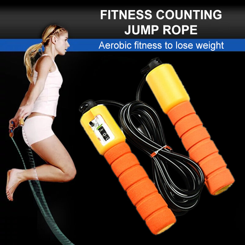Professional Sponge Jump Ropes With Counter Sports Fitness Adjustable Fast Speed Counting Jump Rope