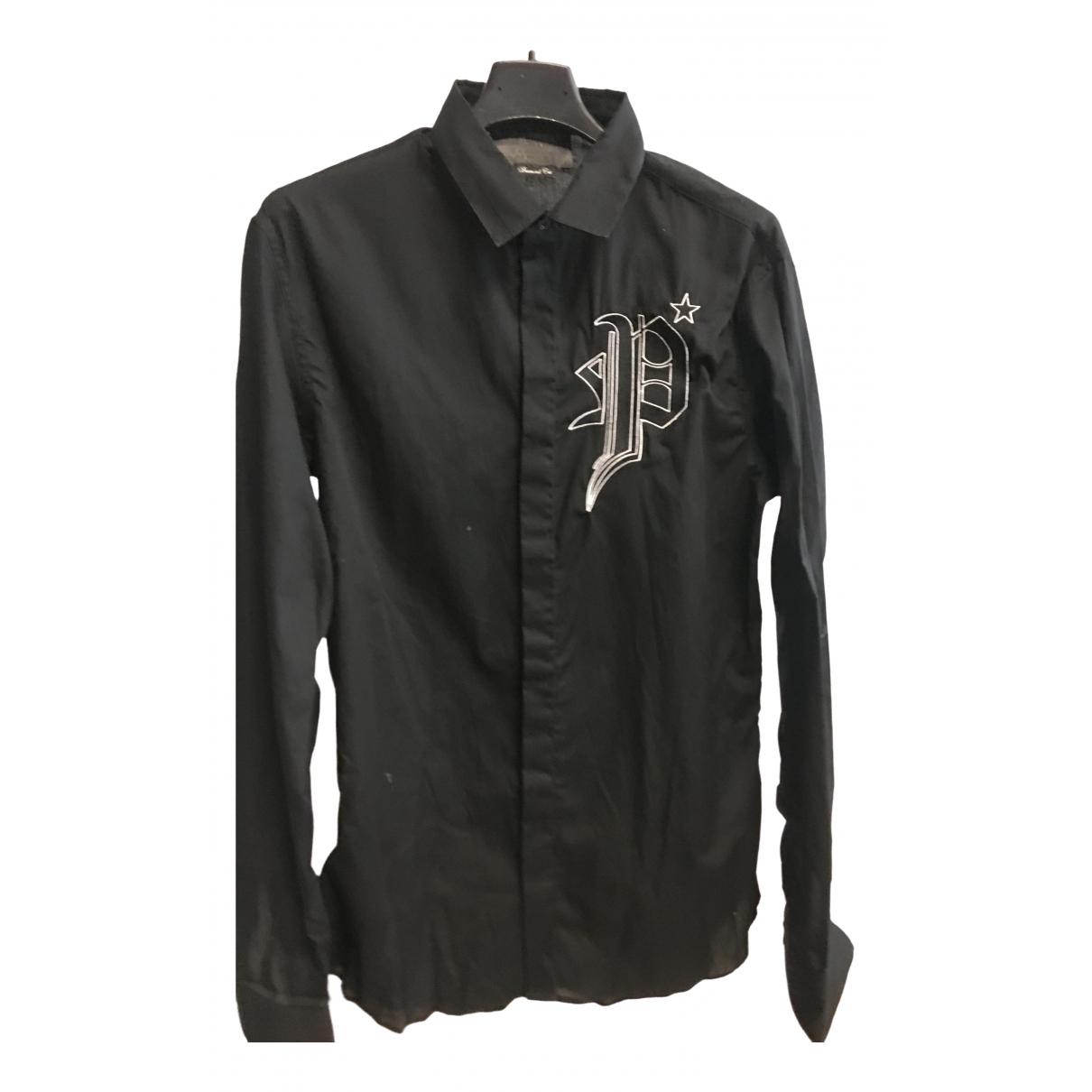 Philipp Plein \N Black Cotton Shirts for Men M International
