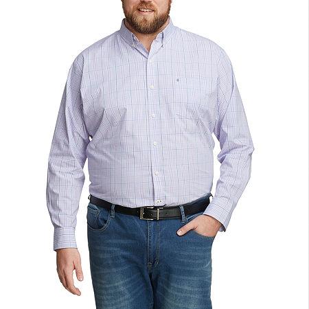 IZOD Mens Long Sleeve Button-Down Shirt - Big and Tall, 2x-large Tall , Purple