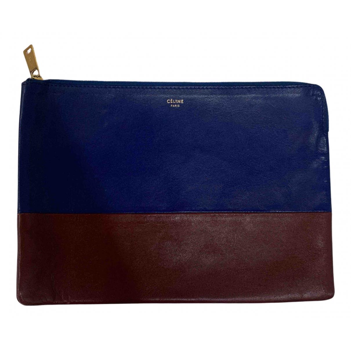 Celine N Blue Leather Clutch bag for Women N