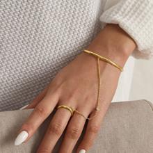1pc Strass Dekor Fingerkette Armband
