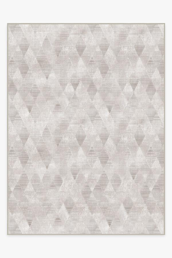 Washable Rug Cover | Kavi Mosaic Silver Rug | Stain-Resistant | Ruggable | 9x12