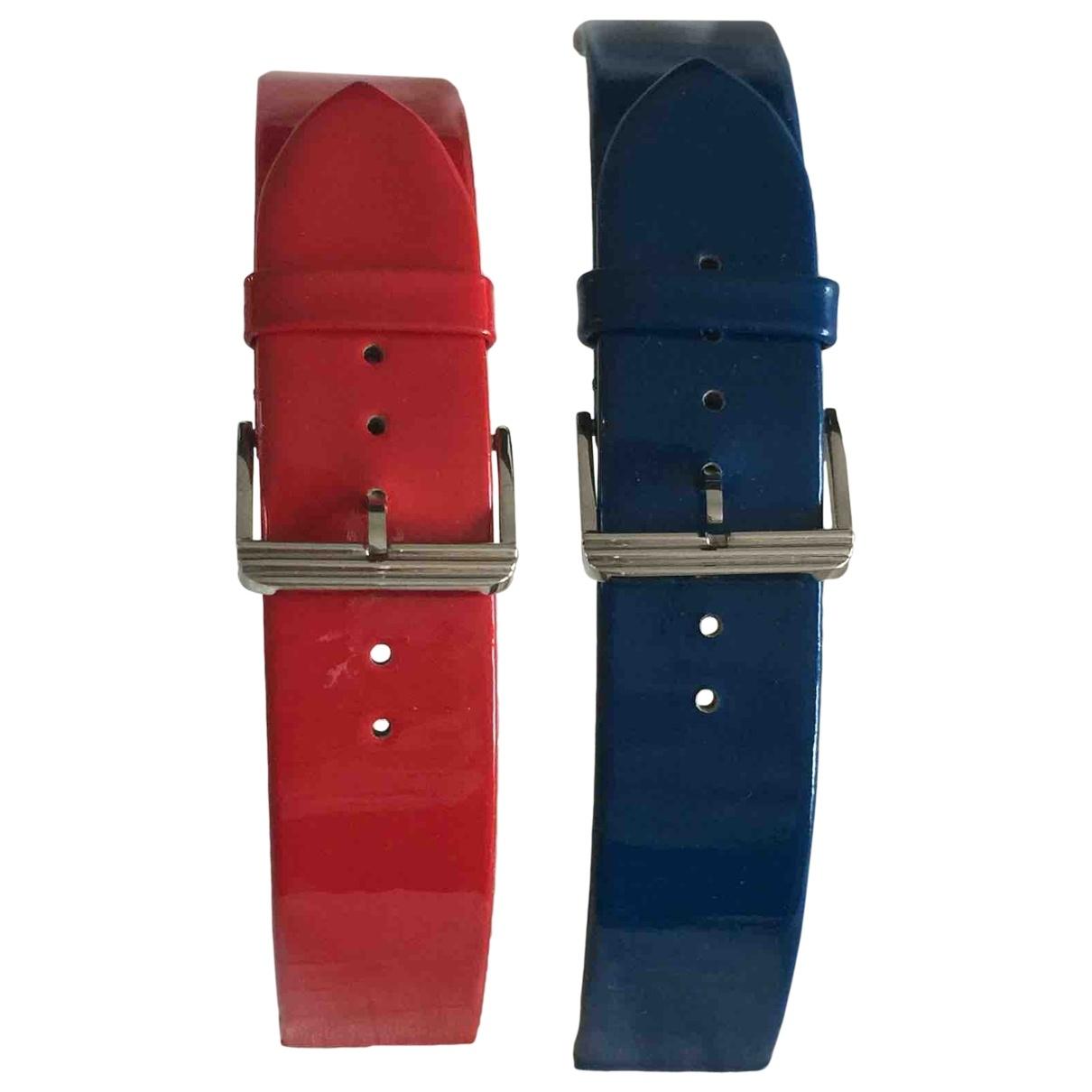 Poiray Bracelet Ma Premiere Uhr in  Blau Leder