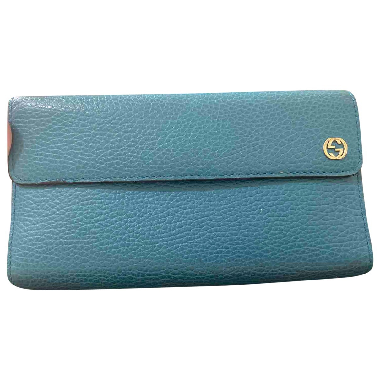 Gucci \N Turquoise Leather wallet for Women \N