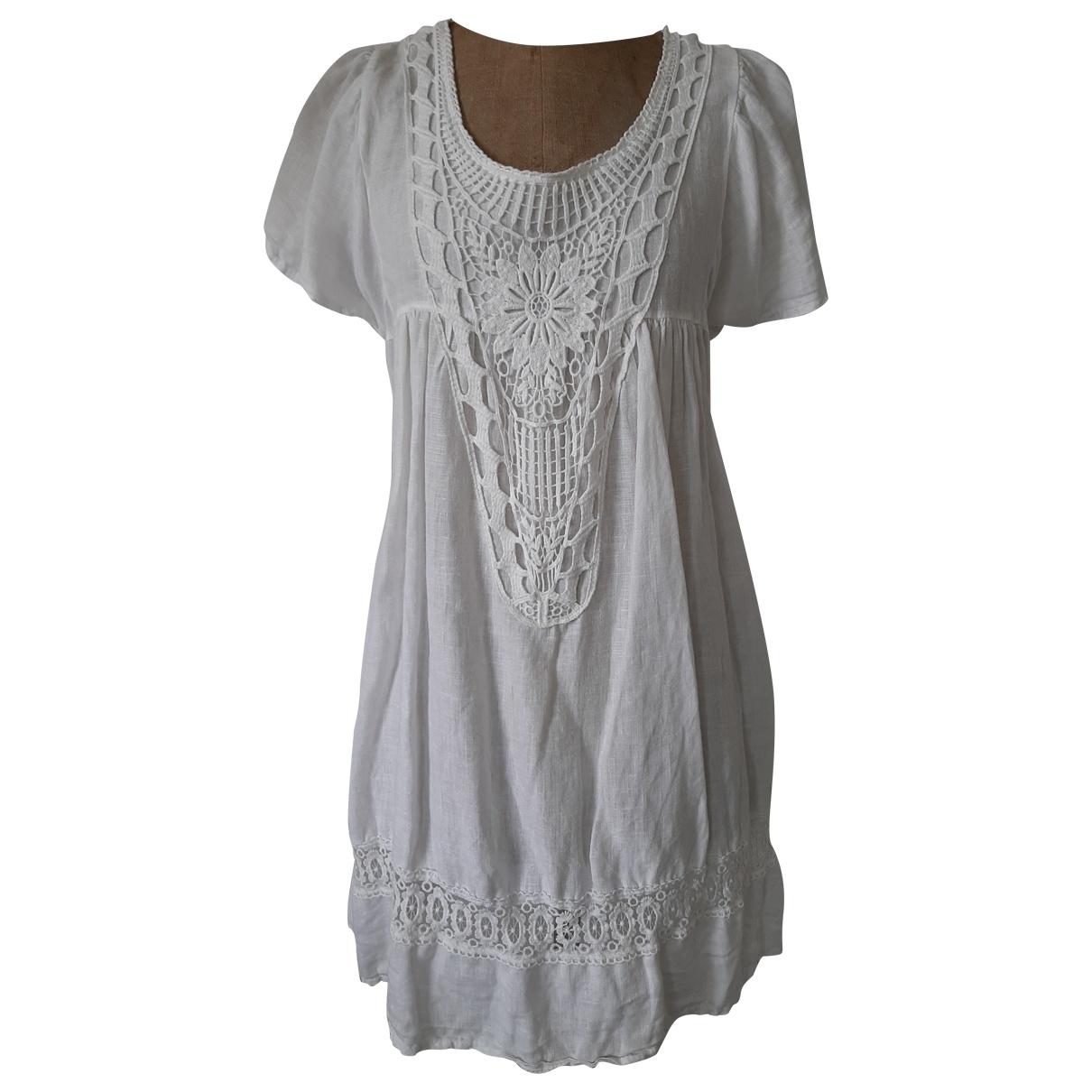 Non Signé / Unsigned \N White Linen dress for Women M International