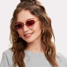 Heart Lens Ombre Sunglasses