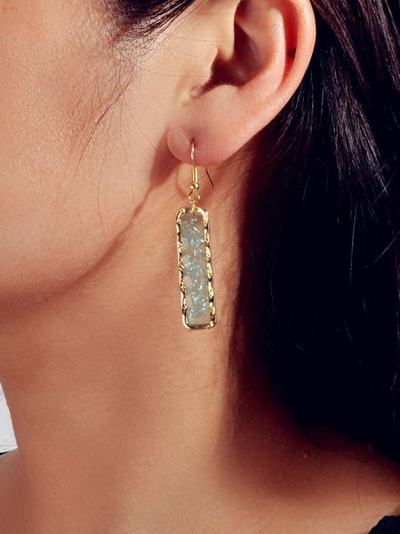 Milanoo Bar Earrings Square Pierced Drop Earrings
