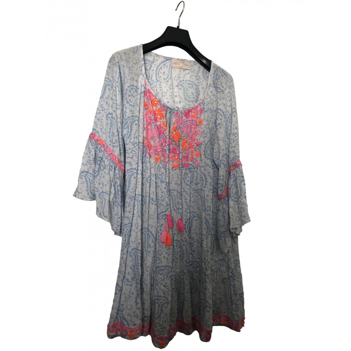 Non Signe / Unsigned Hippie Chic Kleid in Baumwolle