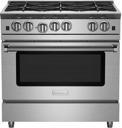 RNB366BV2CPLT 36 RNB Residential Nova Series Freestanding Range with 6 Open Burners  22000 BTU UltraNova and Simmer Burners  Convection Oven and