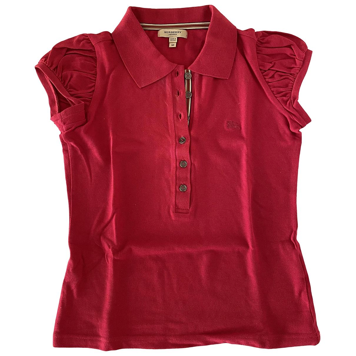Burberry \N Top in  Rot Baumwolle