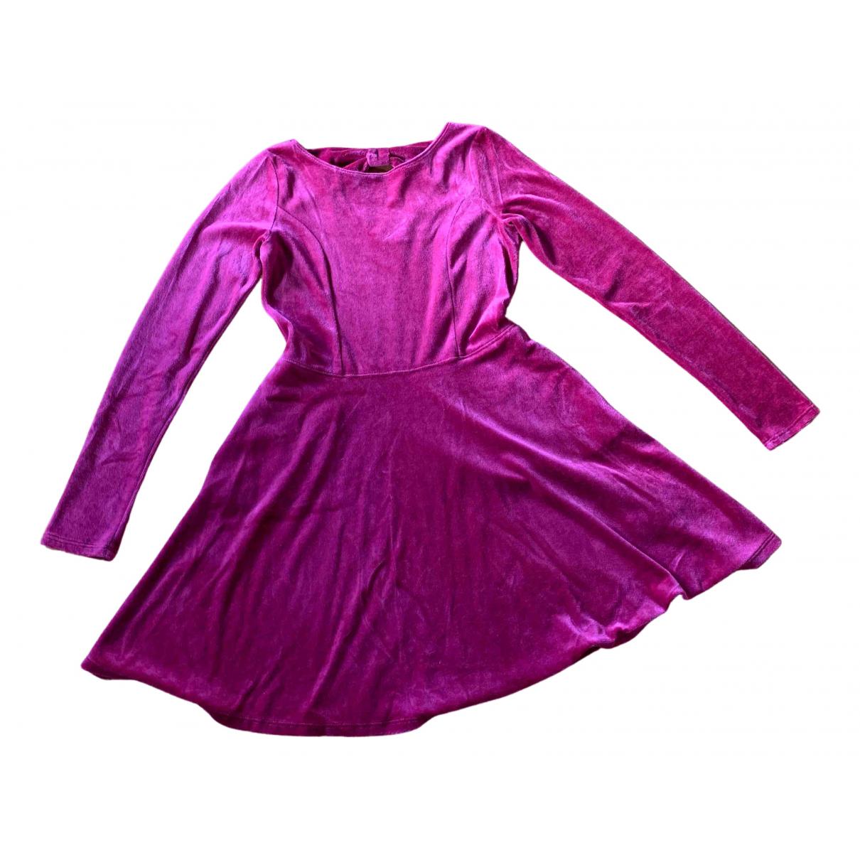 Abercrombie & Fitch - Robe    pour enfant en velours - bordeaux