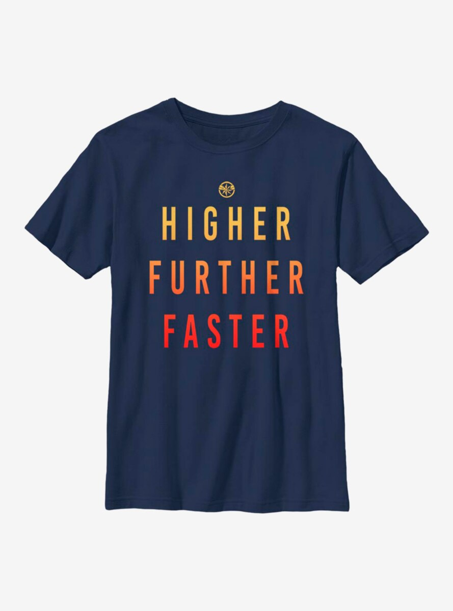 Marvel Captain Marvel Higher Further Faster Youth T-Shirt