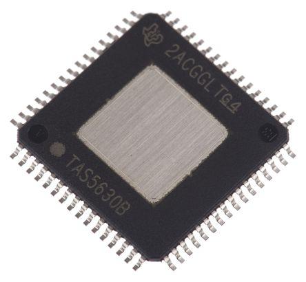 Texas Instruments TAS5630BPHD , 4-Channel Audio Amplifier, 64-Pin HTQFP