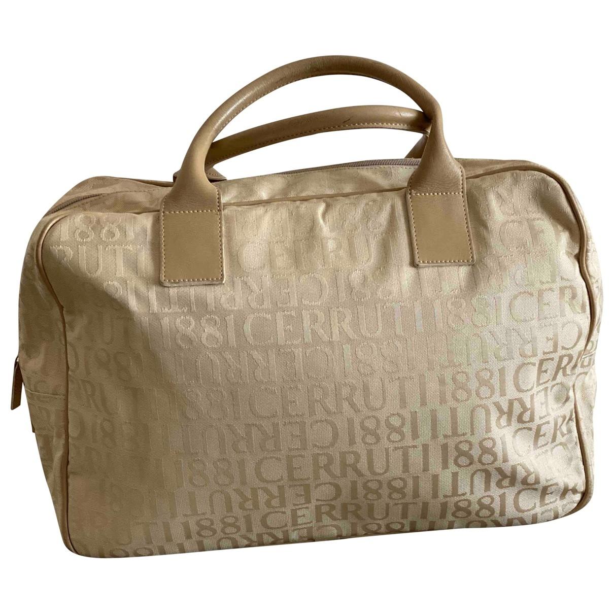 Cerruti \N Ecru Cloth handbag for Women \N
