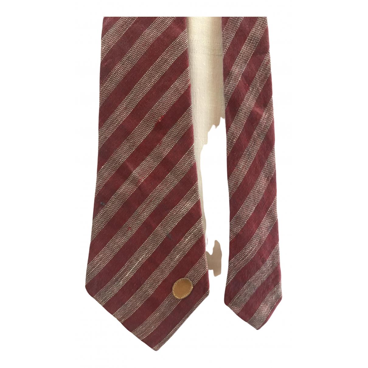Gucci - Cravates   pour homme en soie - bordeaux