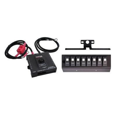 SPOD Bantam Power Distribution System with Switch Panel (Blue) - B8-600-07LEDB