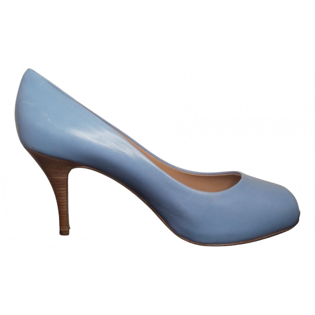 Giuseppe Zanotti - Escarpins   pour femme en cuir - turquoise