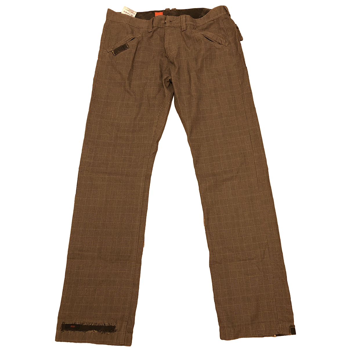 Boss \N Brown Cotton Trousers for Men 52 IT