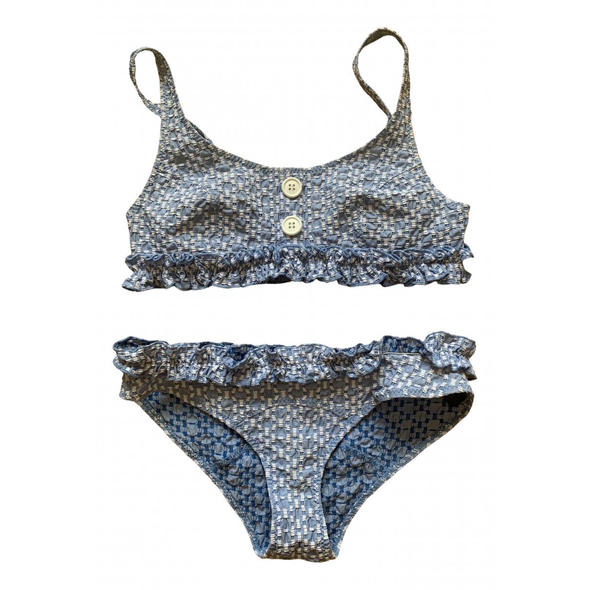Lisa Marie Fernandez \N Badeanzug in  Blau Lycra