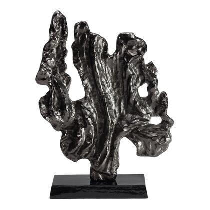 Coral Collection IX-1115-02 Sculpture with Black Marble Base in Black