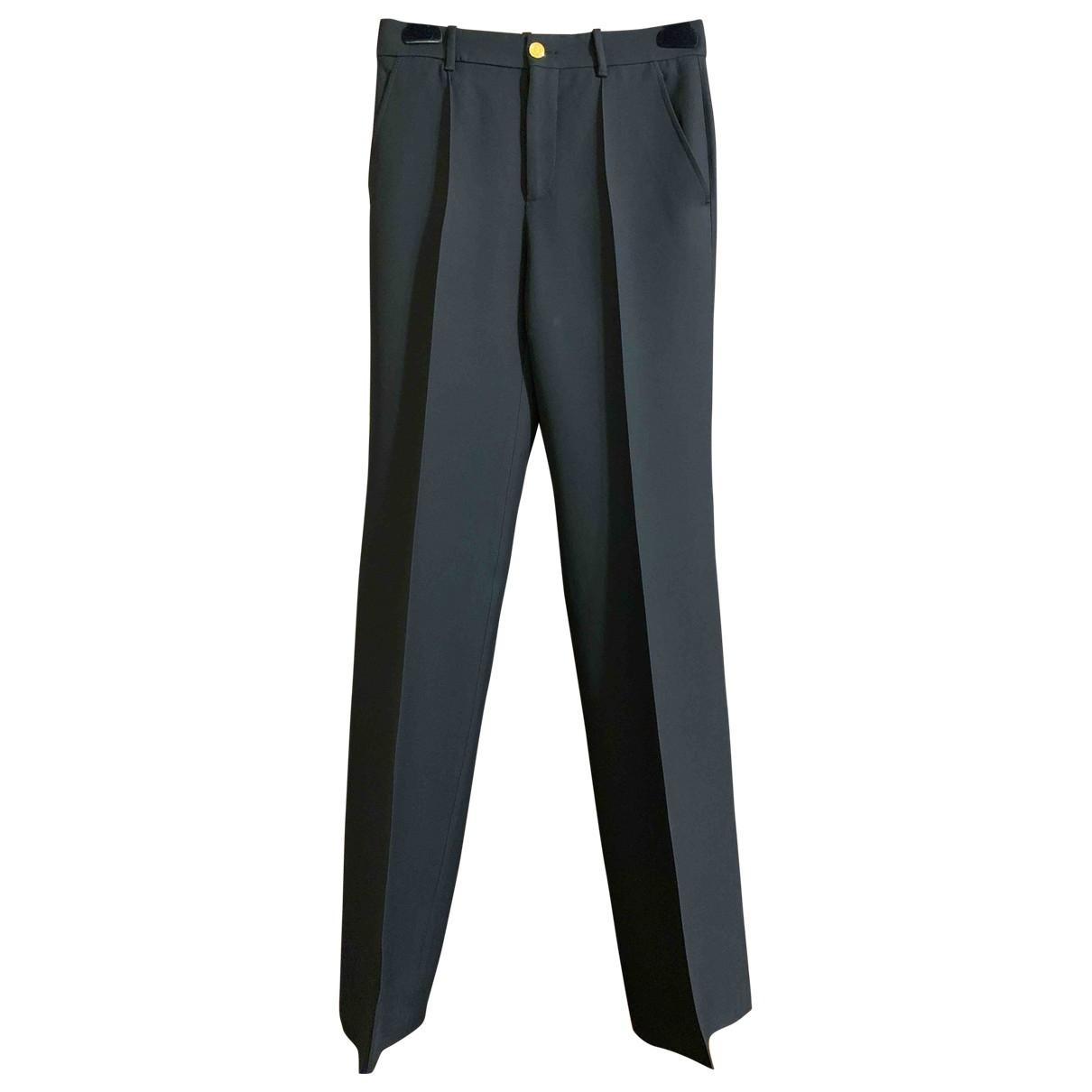Gucci \N Black Silk Trousers for Women 38 IT