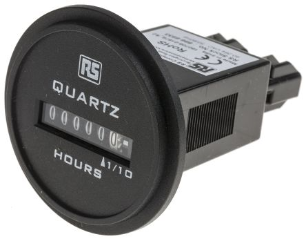 RS PRO Hour Counter, 6 digits, Analogue, Spade Terminal Connection, 90 → 264 V ac