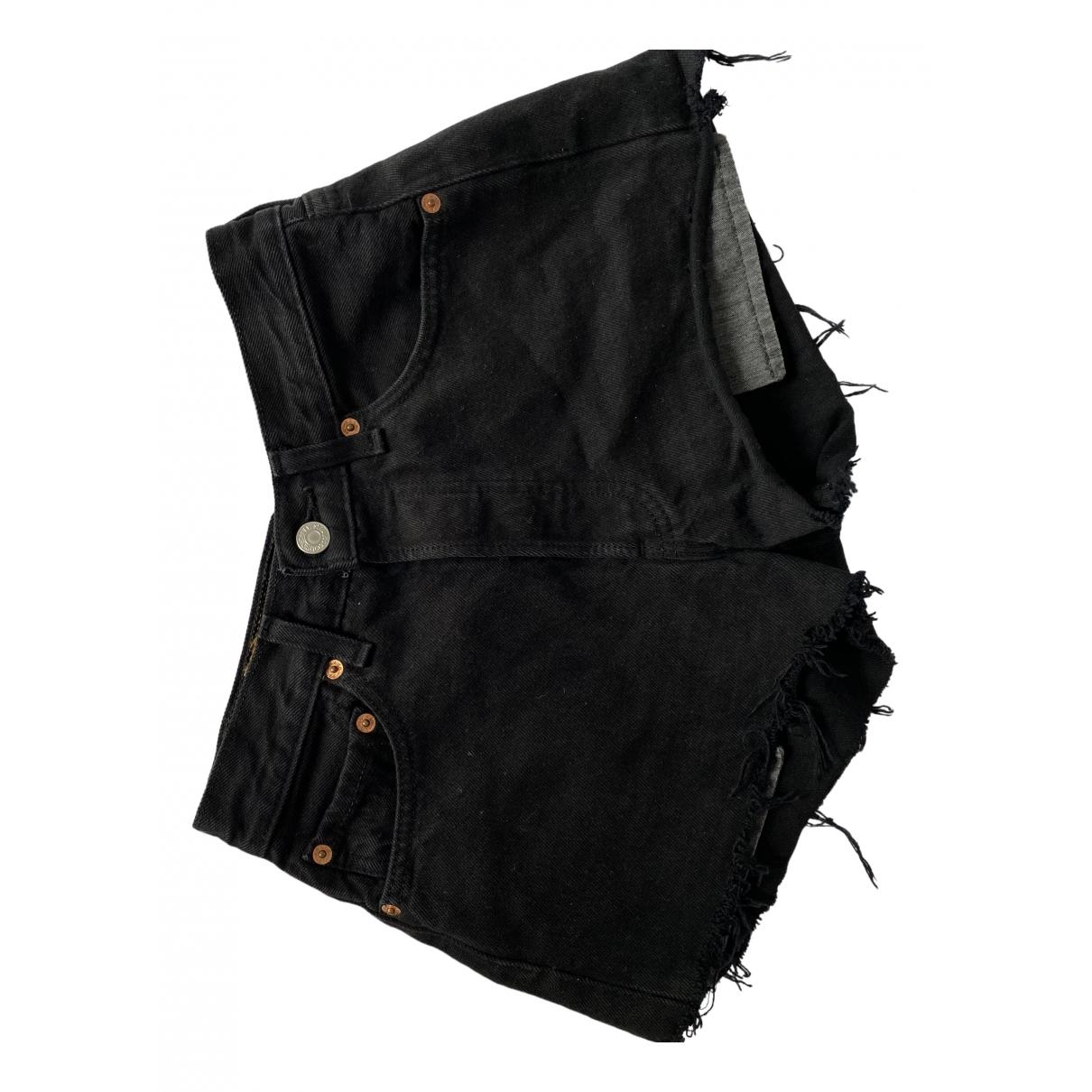 Levi's \N Black Denim - Jeans Shorts for Women 34 FR