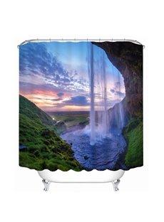Amazing Nature Waterfall 3D Printed Bathroom Waterproof Shower Curtain