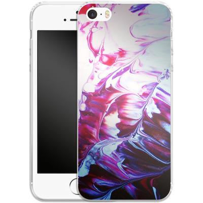 Apple iPhone SE Silikon Handyhuelle - Macro 8 von Gela Behrmann