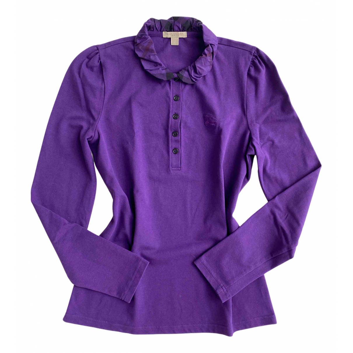 Burberry - Top   pour femme en coton - violet
