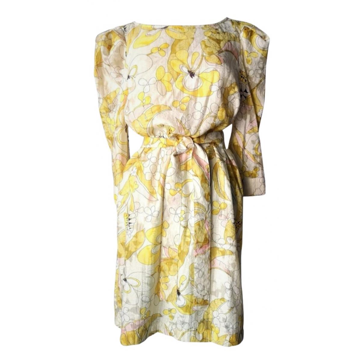 Non Signe / Unsigned \N Kleid in  Gelb Viskose
