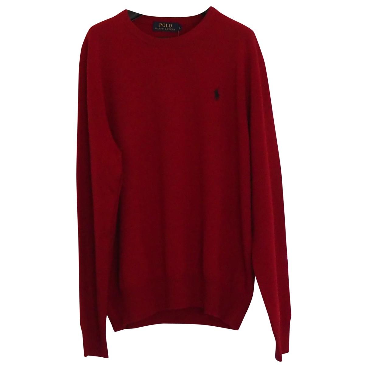 Polo Ralph Lauren - Pull   pour femme en laine - rouge